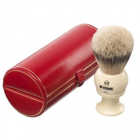 Blaireau de Rasage XL Silvertip en résine Ivoire - Kent BK8