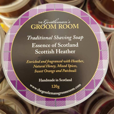 "Savon à barbe artisanal ""Scottish Heather"" - The Gentleman's Groom Room"