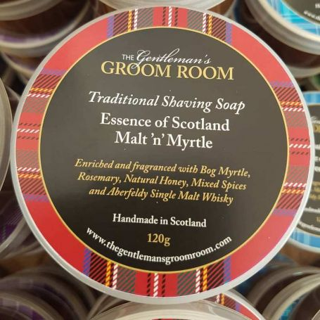 "Savon à barbe artisanal ""Malt and Myrtle"" - The Gentleman's Groom Room"