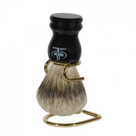 Blaireau de Rasage Noir - Omega
