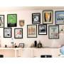 "Affiche Style Vintage ""5 Barber Poles"" pour Barbershop"