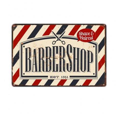"""Plaque Émaillée pour Barbershop """"1951"""""""