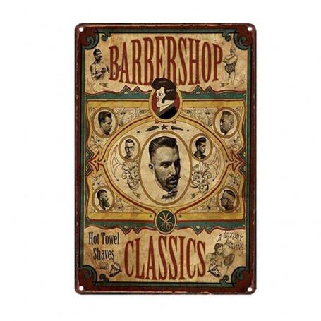 """Plaque Émaillée pour Barbershop """"Classics"""""""