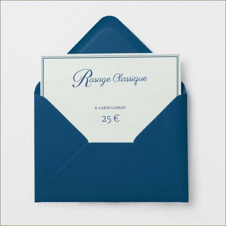 E-Carte Cadeau Rasage Classique - 25€