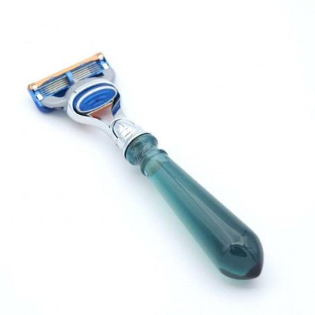 Rasoir Gillette Fusion en résine Bleue Paon - Sélection RC