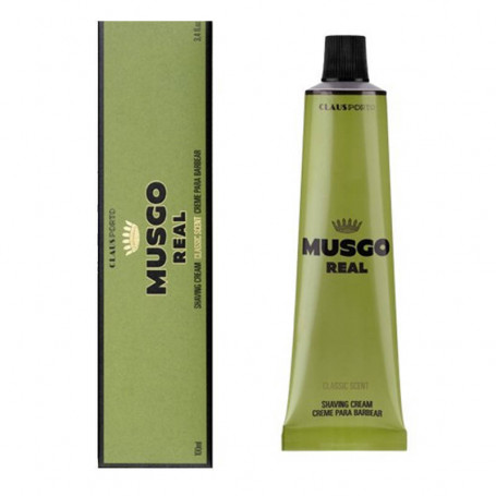 """Crème de Rasage en Tube """"Classic Scent"""" - Musgo Real"""