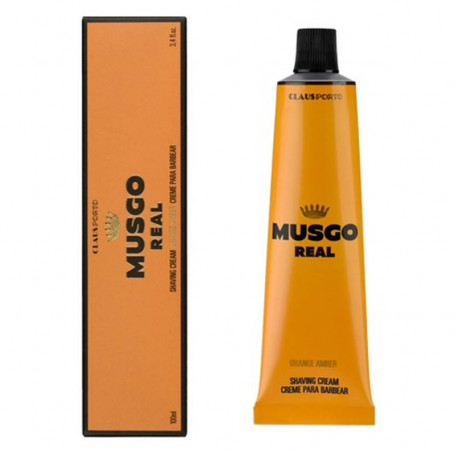 "Crème de Rasage en Tube ""Orange Amber"" - Musgo Real"