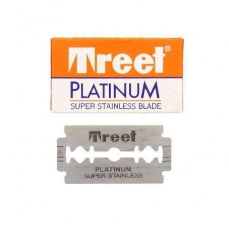 """Lames de Rasoir Treet """"Platinum Super Stainless"""" - Boîte de 10"""