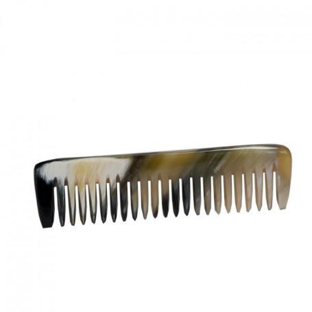 Petit Peigne à Barbe et Moustache en Corne Blonde Véritable - Abbeyhorn