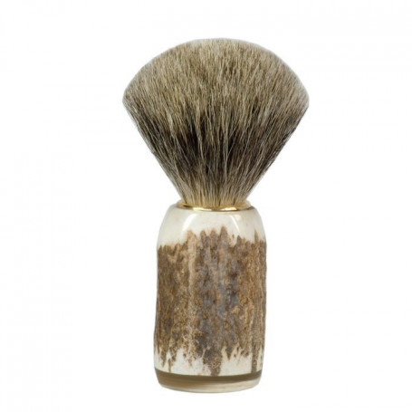 Blaireau de Rasage Best Badger en Corne de Cerf Véritable - Abbeyhorn