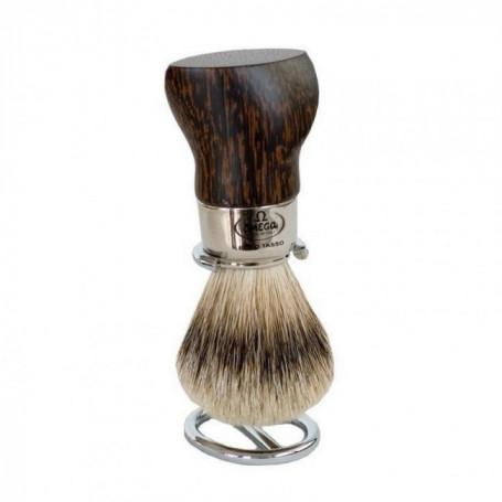 Blaireau de Rasage en bois de Palmier - Omega 6542