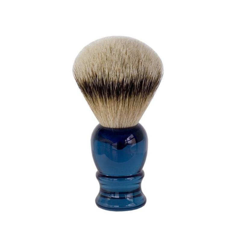 Blaireau Rasage classique Blaireau-de-rasage-pur-argente-rc-bleu-ig-3398
