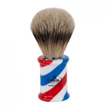 """Blaireau de Rasage """"Barber Pole"""" - Omega 6735"""