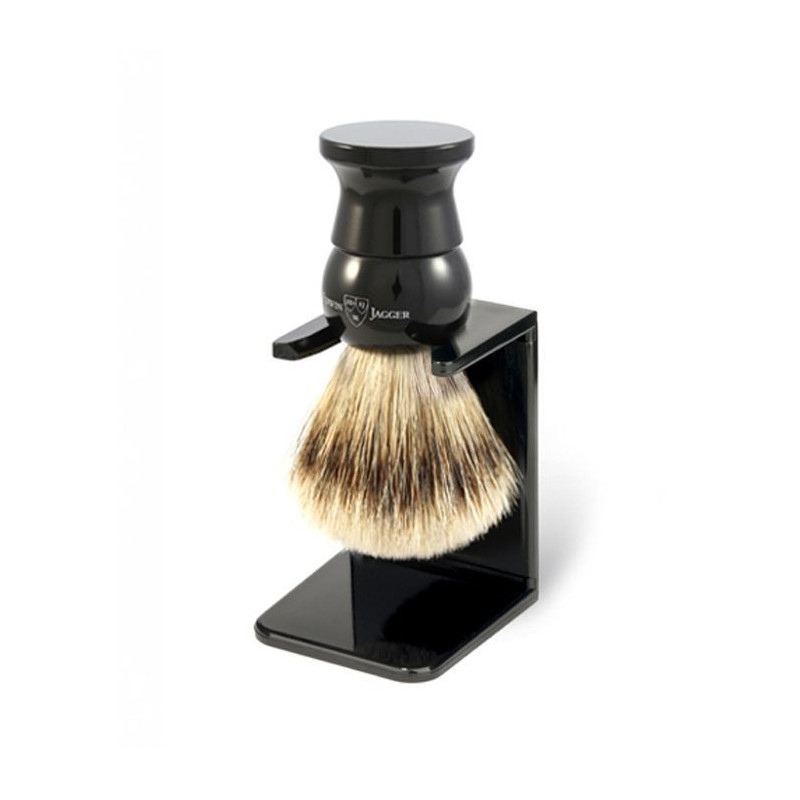 Blaireau de Rasage Super Badger Medium Noir - Edwin Jagger