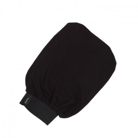 Gant de crêpe noir exfoliant pour gommage