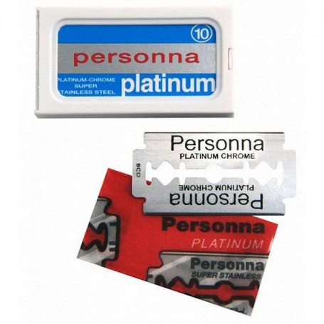Étui de 10 Lames de Rasoir de Sureté - Personna Platinum