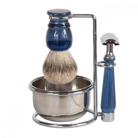 Set de Rasage Bleu avec Rasoir de Sûreté et Bol- Sélection RC