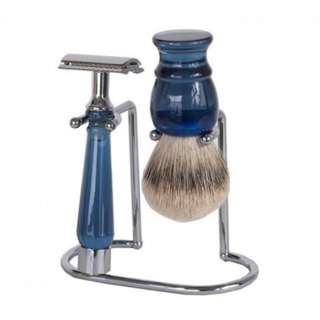 Set de Rasage Bleu avec Rasoir de Sûreté - Sélection RC