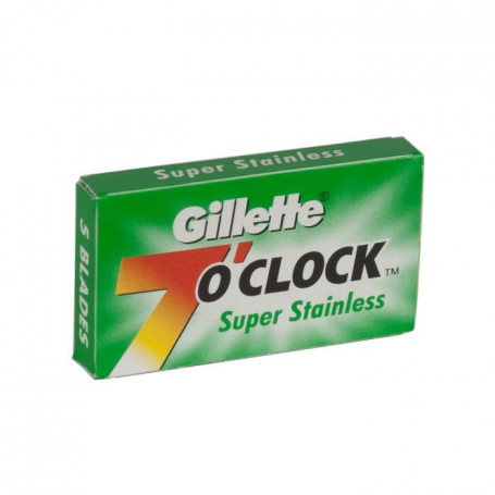 "Etui de 5 Lames Gillette ""7 O'Clock"" Super Stainless"