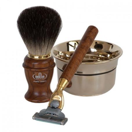 Coffret Cadeau de Rasage Pour Homme avec Rasoir Mach3 - Omega