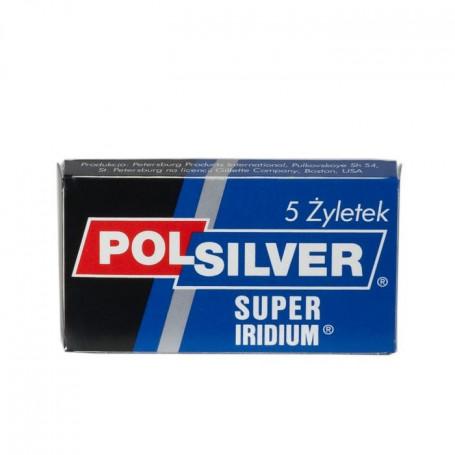 """Étui de 5 Lames de Sûreté """"Super Iridium"""" - Polsilver"""