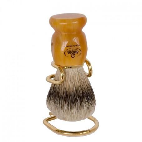 Blaireau de Rasage Miel - Omega 617