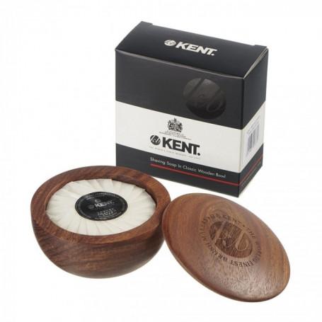 Savon à barbe de luxe et son bol en bois - Kent