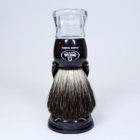 Blaireau de Rasage Noir et Transparent - Omega 63167