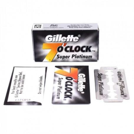 "Etui de 10 Lames Gillette ""7 O'Clock"" Super Platinum"