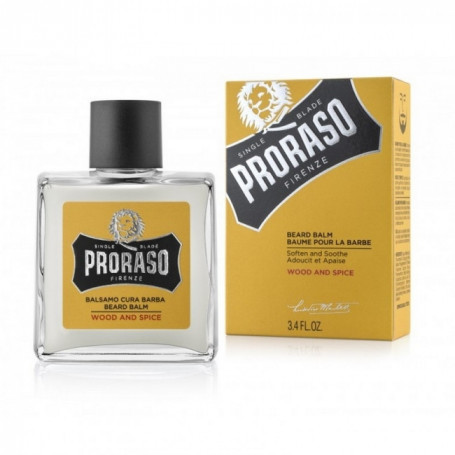 "Baume Hydratant pour Barbe ""Wood & Spice"" - Proraso"