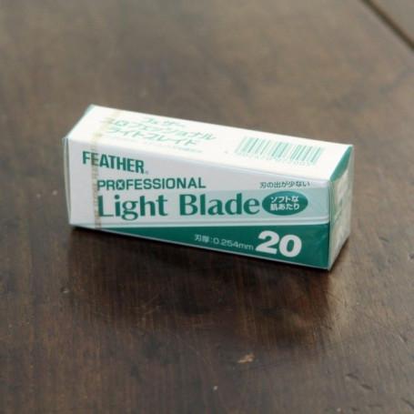 """Boite 20 Lames """"Light Blade"""" pour Rasoir Artist Club - Feather"""