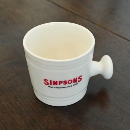 Bol de Rasage en Céramique avec Poignée - Simpson