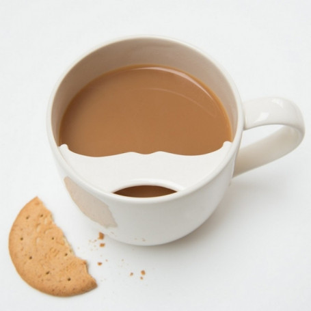 Tasse à Moustache avec Rebord pour Droitier - Captain Fawcett