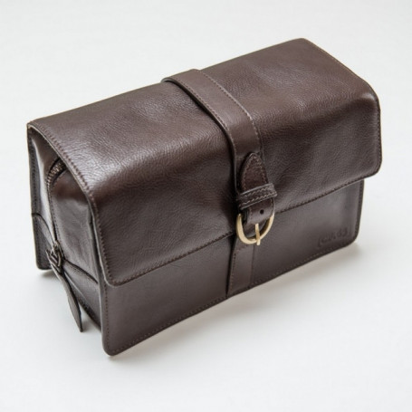 Trousse de Toilette en Cuir Marron - Captain Fawcett