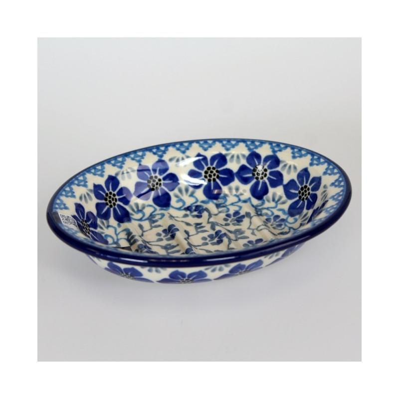 Porte savon en c ramique de gr s peint 39 blue violets - Gres ceramique ...
