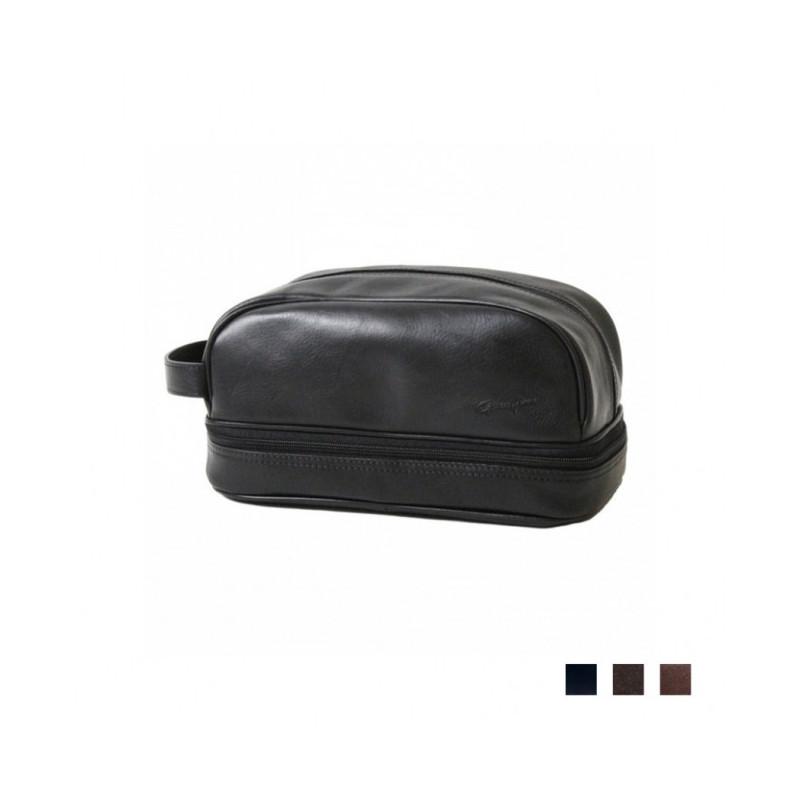 trousse de toilette en cuir noir 39 renaissance 39 g rard henon. Black Bedroom Furniture Sets. Home Design Ideas