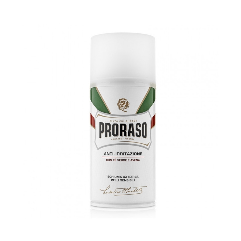 Espuma de afeitar Proraso Piel Sensible té verde 300ml