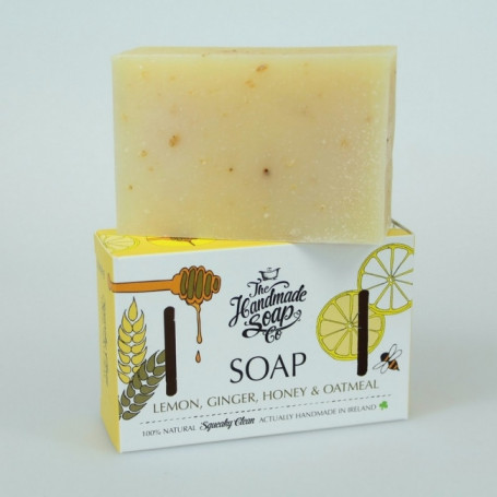 Savon Exfoliant au Citron, Gingembre, Miel et Avoine - Handmade Soap Co.
