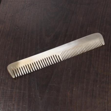 Peigne à Cheveux en Corne Blonde - Abbeyhorn