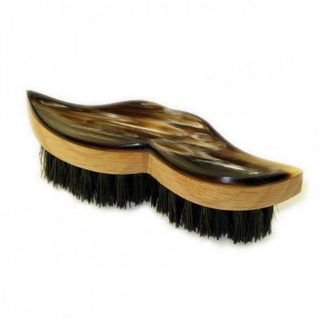 Brosse à Moustache Gentleman en Bois et Corne - Abbeyhorn