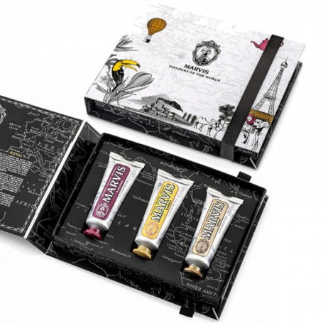 "Coffret Cadeau 3 Dentifrices ""Wonders of the World"" - Marvis"