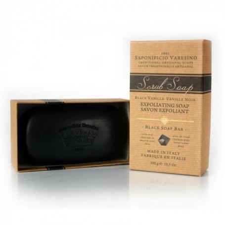 Savon Exfoliant au Charbon Parfum Vanille - Saponificio Varesino
