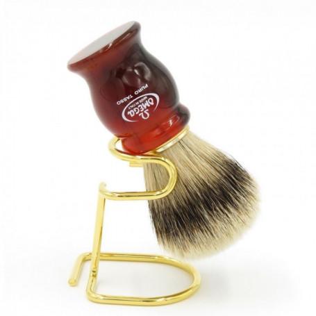 Blaireau de Rasage Rouge Marbré - Omega 622T