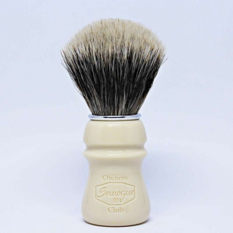 "Blaireau de Rasage Blanc et Finest Badger - Semogue ""Owners Club"""