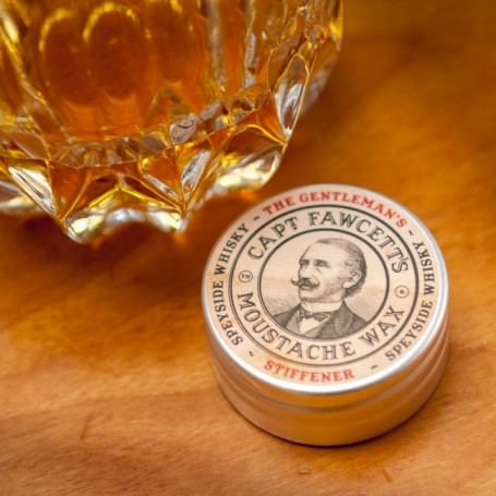 "Cire à Moustache ""The Gentleman's Stiffener"" - Captain Fawcett"