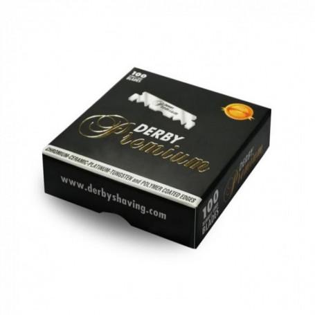 100 Demi-Lames pour Shavette - Derby Premium