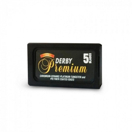 Etui de 5 lames de rasoir - Derby Premium
