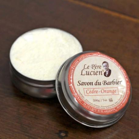 """Savon du Barbier """"Cèdre Orange"""" - Le Père Lucien"""